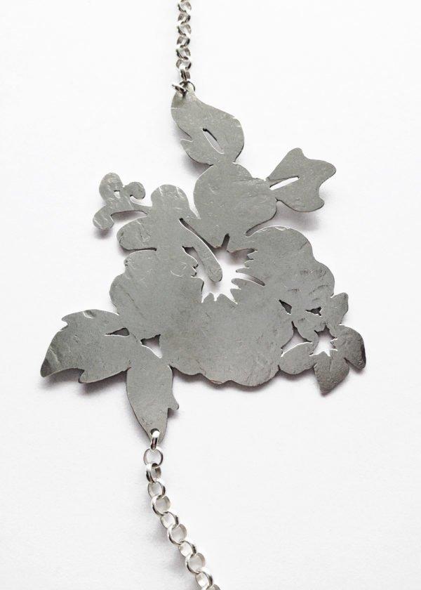 silver aloha necklace