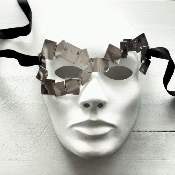 Silver harlequin Mask