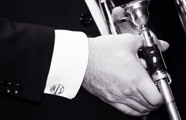 silver initials cufflinks