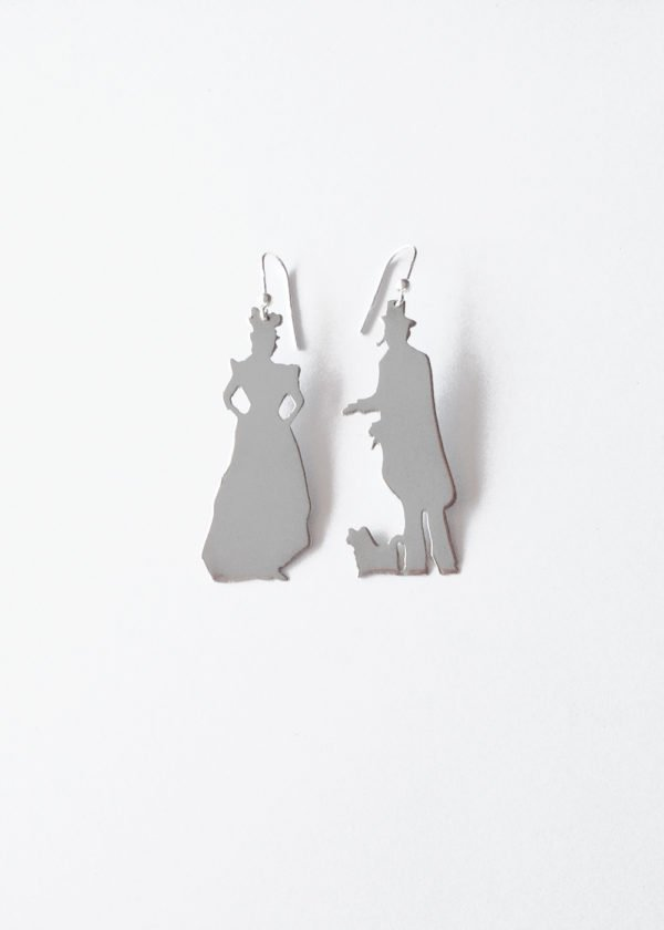 monsieur madame petit silver earrings