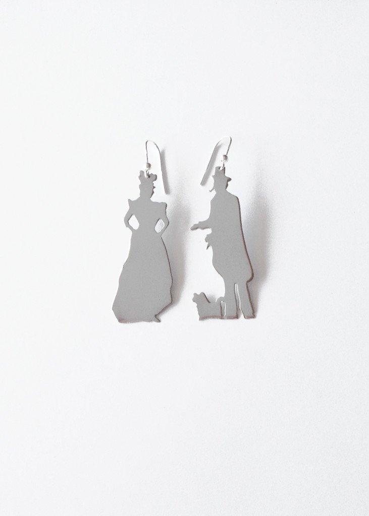 monsieur madame petit silver earrings