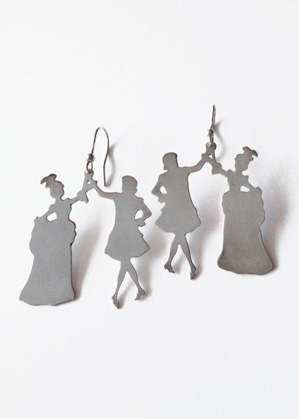 minuetto silver earrings