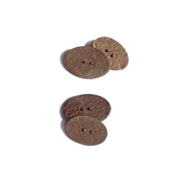silver bronzed button cufflinks