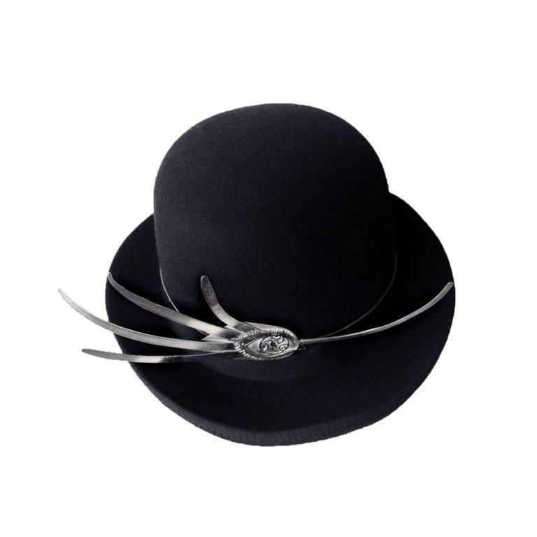 silver hat jewel