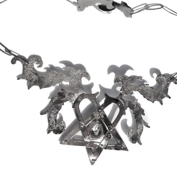 heartagram silver necklace