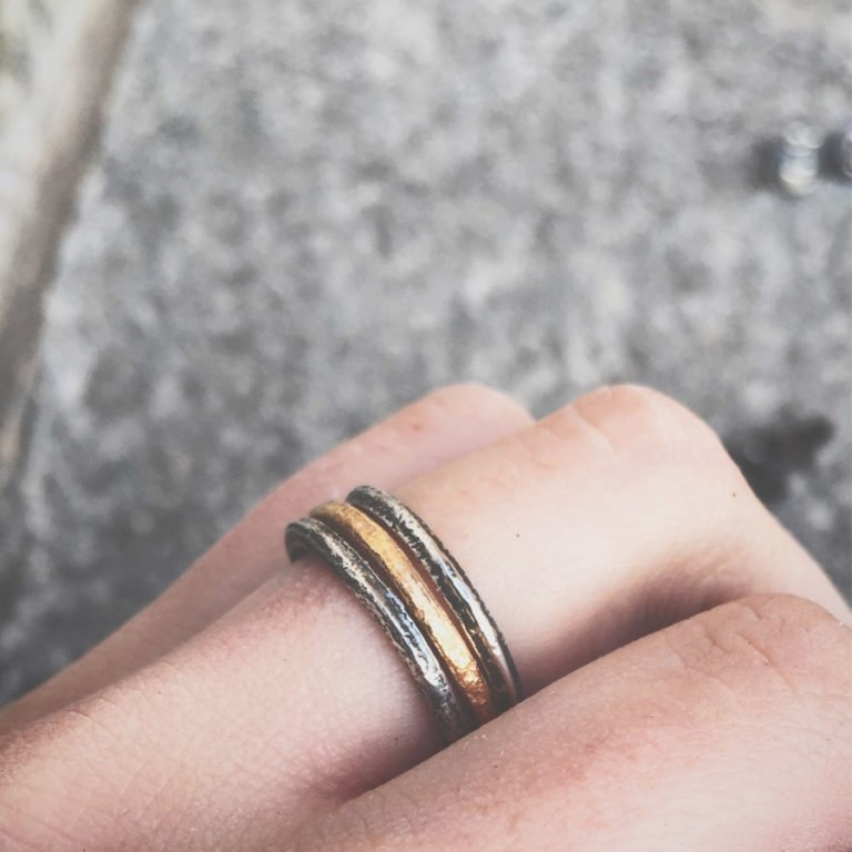 almost colored silver rings