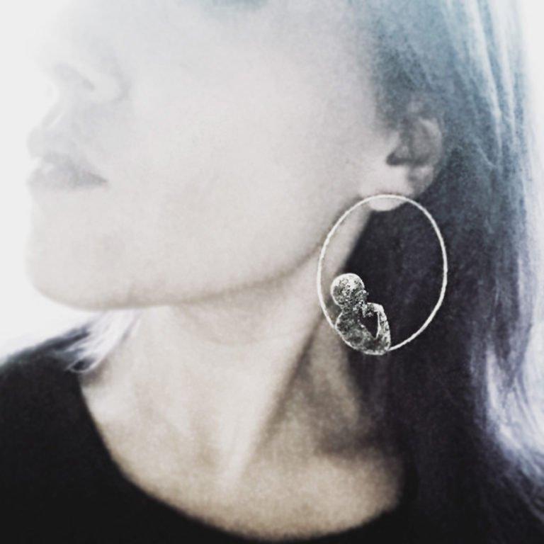 dreamer silver mono earring