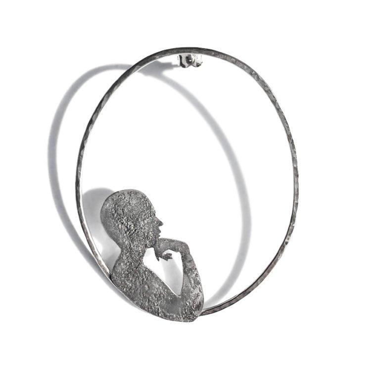 dreaming silver mono earring