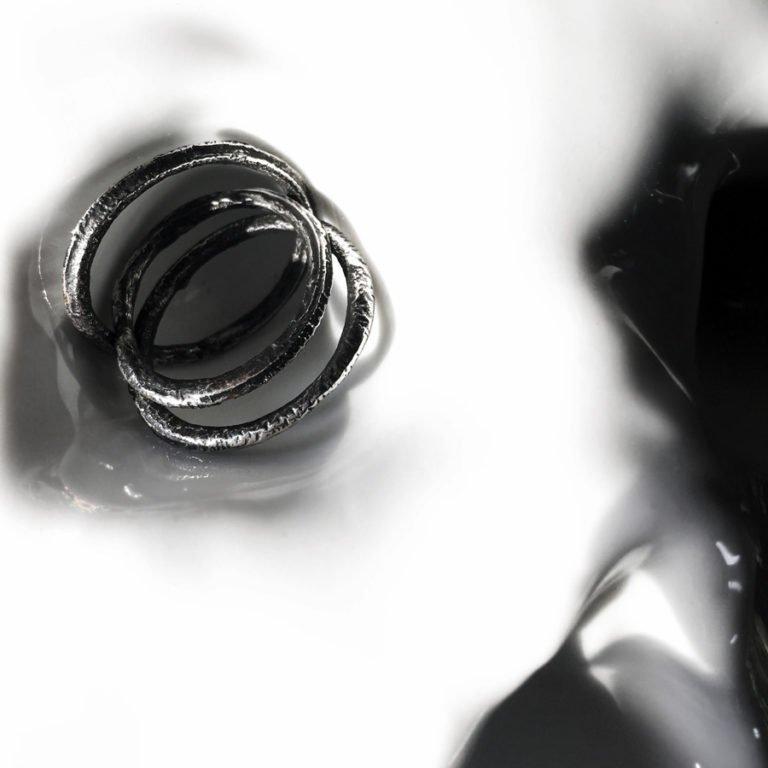 three silver rings