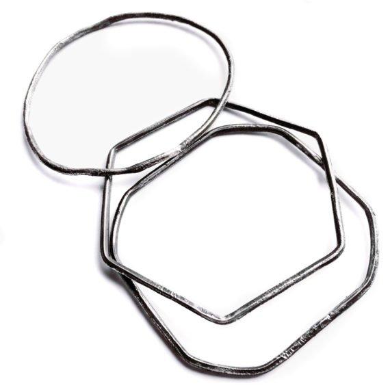 three shape bangles