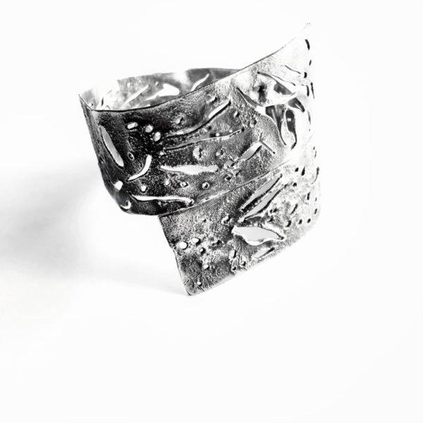 silver skin bangle