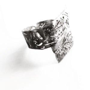 silver skin bangle_ 900