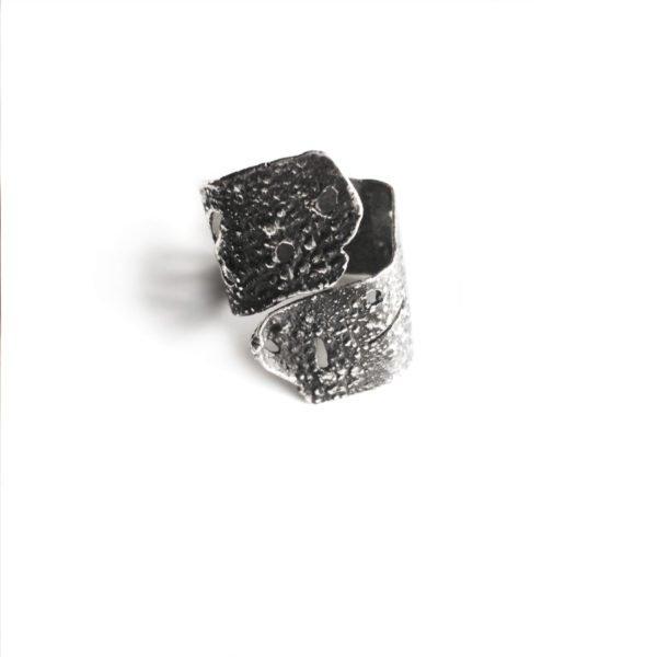 silver skin ring