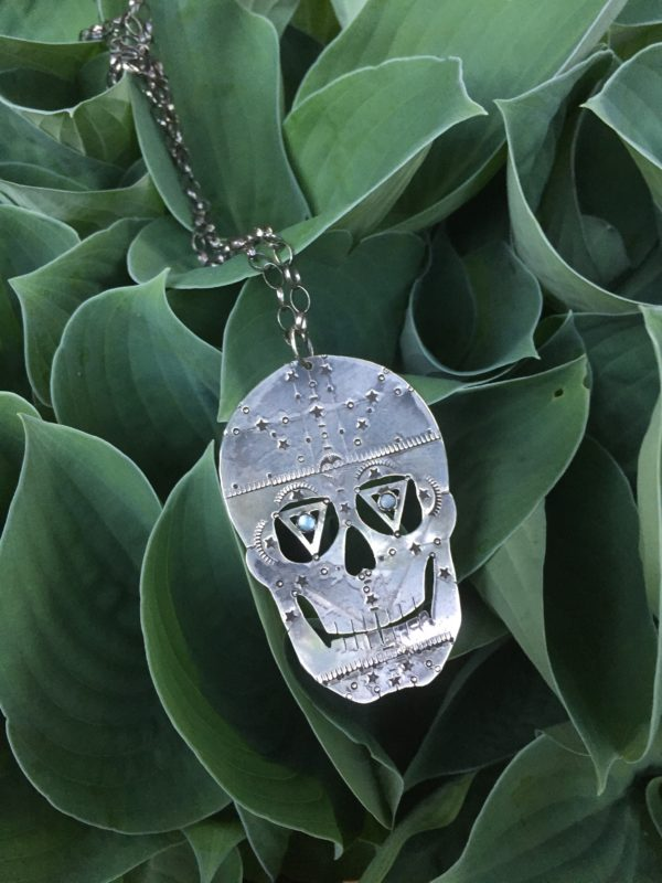 silver stars sugar skull