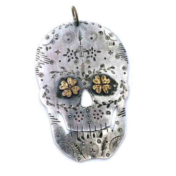 golden luck sugarskull skull