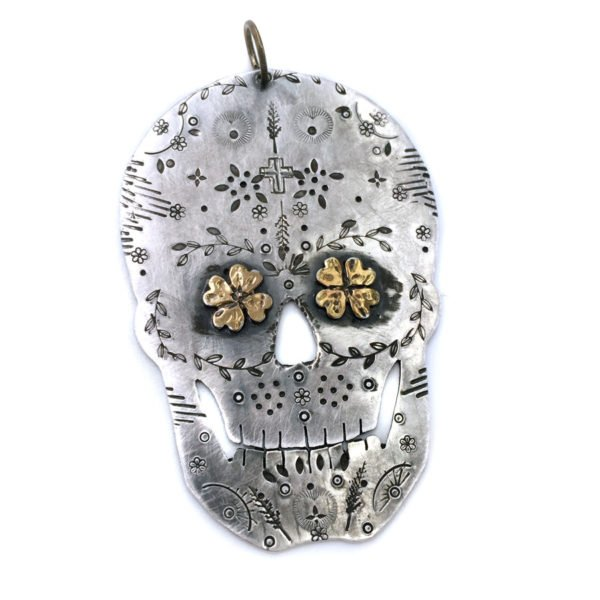 golden luck sugarskull skull